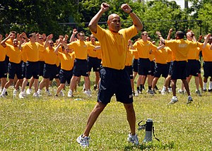 Physical training uniform - Navy sailors wearing the Navy PTU