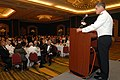 US Navy 080607-N-0486G-009 Rear Adm. Michael C. Vitale, commander of Navy Region Southeast, speaks with guests at the 11th annual Midway Memorial Dinner in Jacksonville, Fla.jpg