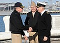 US Navy 081202-N-9985W-042 Cmdr. Wesley Guinn meets with Canadian Rear Adm. P.A. Maddison.jpg