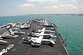 US Navy 090424-N-6597H-004 The aircraft carrier USS John C. Stennis (CVN 74) transits Singapore harbor.jpg