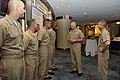 US Navy 090716-N-8273J-009 Chief of Naval Operations (CNO) Adm. Gary Roughead, middle, and Master Chief Petty Officer of the Navy (MCPON) Rick West, right, speak with the Sailors of the Year.jpg