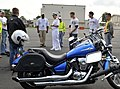 US Navy 090724-N-8273J-283 Chief of Naval Operations (CNO) Adm. Gary Roughead, center, speaks with Sailors attending a motorcycle safety course at Naval Air Station Oceana.jpg