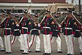 US Navy 100705-N-5319A-229 Members of the Peruvian Marine Drill Team perform at the opening ceremonies of Amphibious-Southern Partnership Station 2010 at Ancon Marine Base, Peru.jpg