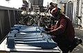 US Navy 100803-N-6362C-254 Aviation Ordnanceman 3rd Class Justin Gray assembles MK-76 practice bombs aboard the aircraft carrier USS Harry S. Truman (CVN 75).jpg