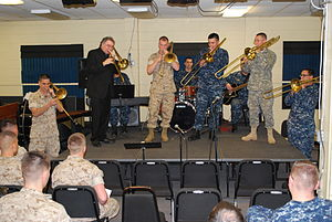 Bob McChesney - Bob McChesney performs at the U.S. Navy School of Music in 2011.