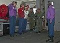 US Navy 110731-N-ZZ999-018 Rainbow side boys welcome Rear Adm. Herman Shelanski.jpg
