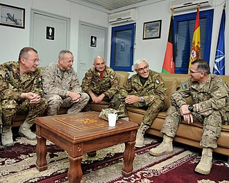 Provincial Reconstruction Team - Meeting of Italian and U.S. commanders at Regional Command West HQ in Herat.