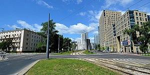Muranów - Stawki Street, view to the west
