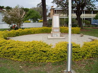 Ulmarra, New South Wales - Ulmarra War Memorial, Coldstream Street, beside the Clarence River