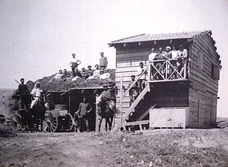 Degania Alef - The original wooden shack at Umm Juni, 1910