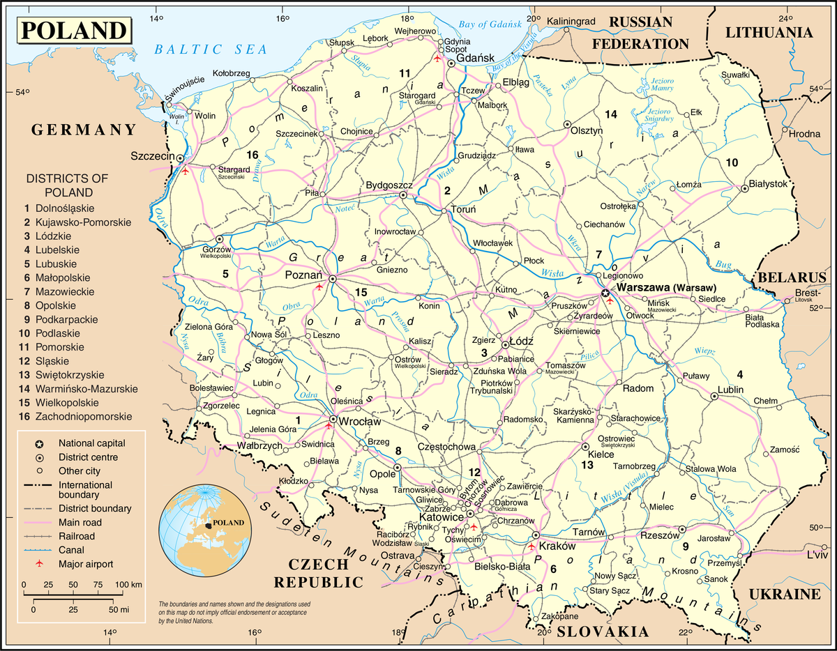 Exceptional image for printable map of poland