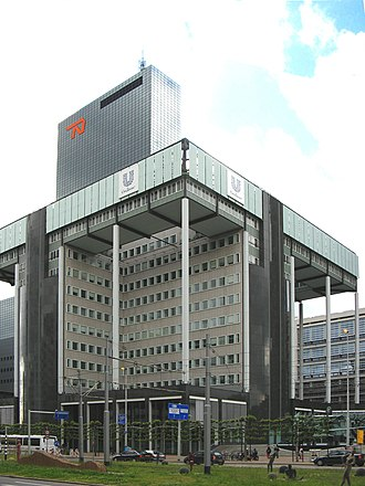 Unilever - Unilever N.V. head office building in Rotterdam