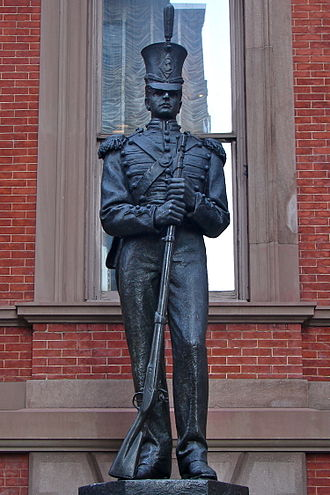 History of Philadelphia - Washington Grays Monument by John A Wilson in front of Union League of Philadelphia