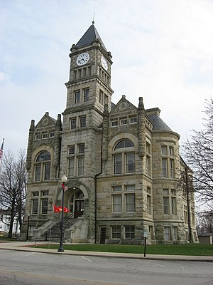 Liberty, Indiana - The Union County Courthouse in Liberty is listed on the National Register of Historic Places.