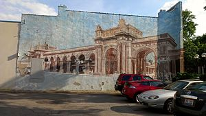 The Short North - The Short North is also known for its murals along N. High Street including the Trains and Union Station mural seen here.