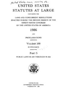 United States Statutes at Large Volume 100 Part 5.djvu