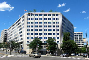 Civil Aeronautics Board - The Universal South Building at 1825 Connecticut Avenue NW. once housed the CAB headquarters