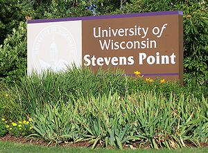 University of Wisconsin–Stevens Point - Welcome sign