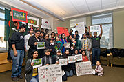 University Of New Mexico students expressing solidarity with Shahbag movement