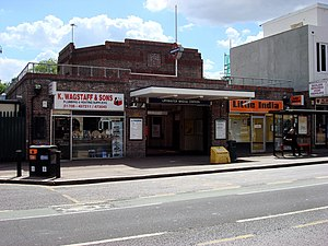 Upminster Bridge tube station - Entrance on Upminster Road