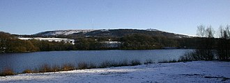 Rivington - Upper Rivington Reservoir with Winter Hill and Rivington Pike
