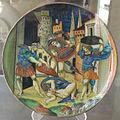 Urbino, bottega di francesco xanto avelli, morte di tarpea, 1533.JPG