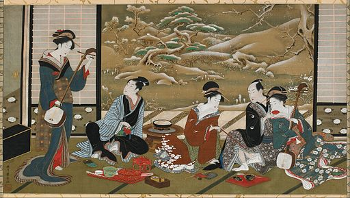 Utagawa Toyoharu - A Winter Party - Google Art Project