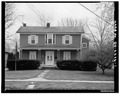VIEW OF NORTH (FRONT) FACADE - John Mercer Langston House, 207 East College Street, Oberlin, Lorain County, OH HABS OHIO,47-OBER,2-1.tif