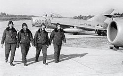 VPAF pilots with MiG-17s