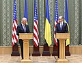 VP Biden and PM Yatsenyuk, Joint Statement, Kyiv, Ukriane, April 22, 2014 (13981127105).jpg