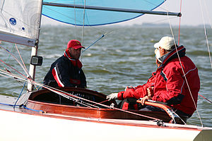 Dragon (keelboat) - Dragon racing in 2008.