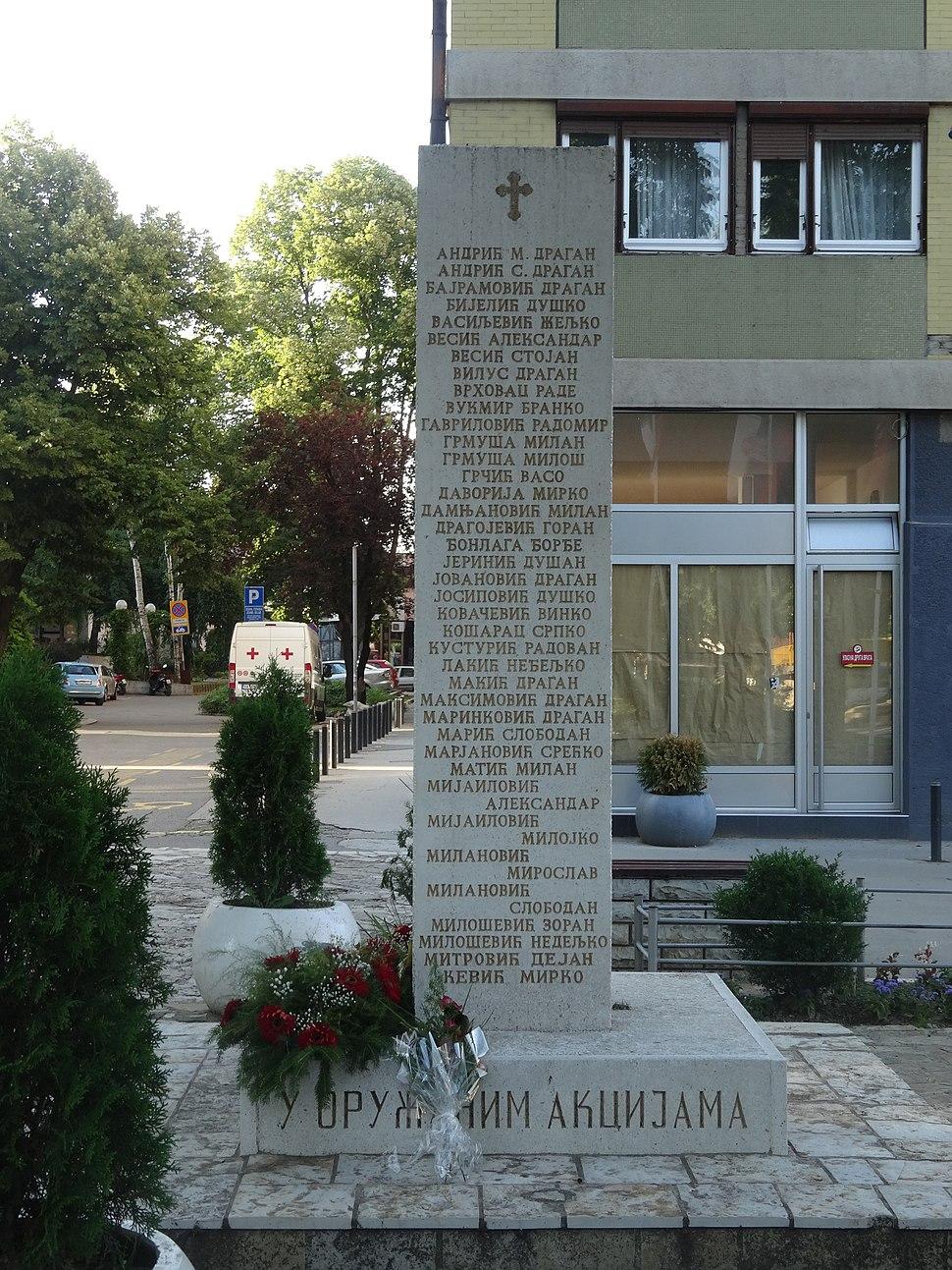 Valjevo, Spomenik palim borcima, 07
