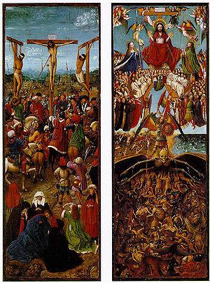 Díptico: La Crucifixión y el Juicio Final - Wikipedia, la enciclopedia libre