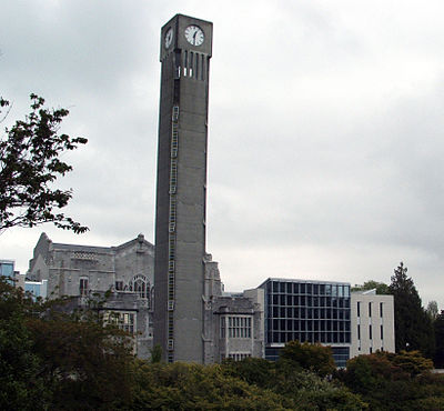 Clock tower in the University of British Columbia