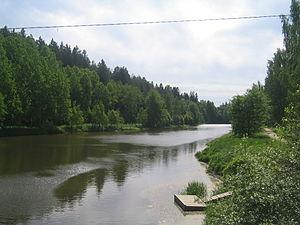 Vantaa (river) - The Vantaa in June 2008