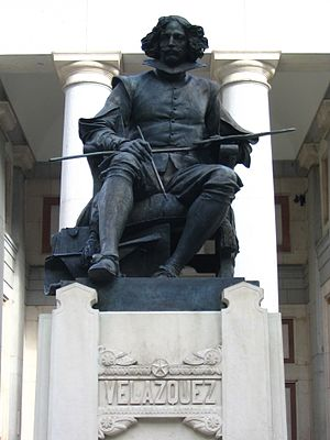 A main promenade entrance is dominated by this 1899 bronze statue of Diego Velázquez, by Aniceto Marinas