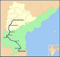 Venkatadri Express Route map.jpg