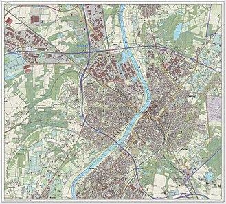 Venlo - Dutch Topographic map of Venlo (city), as of March 2014