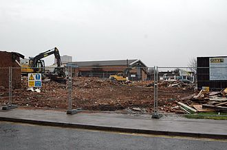 Eastside, Birmingham - Demolition commencing on site to make way for the Eastside Locks (Ventureast) development.