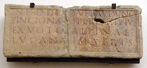 Inciona - A votive inscription from the Widdebierg, Luxembourg.
