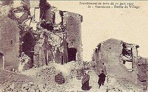 1909 Provence earthquake - Vernègues after the earthquake