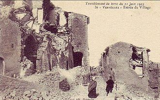 1909 Provence earthquake - Vernègues after the earthquake