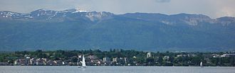 Versoix - Versoix as seen from Lake Geneva, 2008