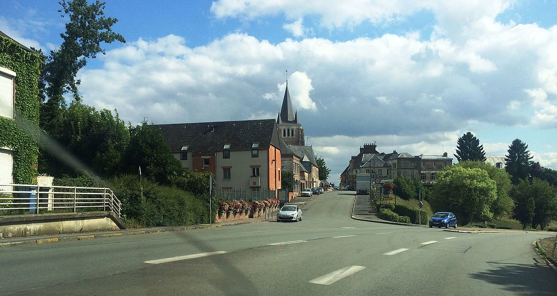 View from the small city of Vervins in Northern France / Aisne / Champagne area.