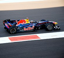 Photo de la Red Bull RB6 de Vettel, vainqueur du Grand Prix d'Abou Dabi 2010