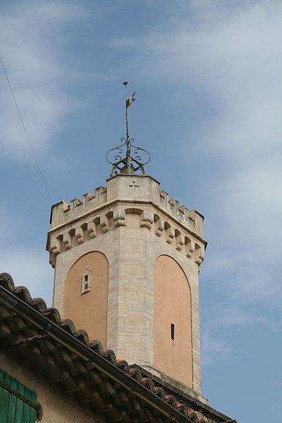 Vias (Hérault) - Tourelle de l'ancienne mairie.
