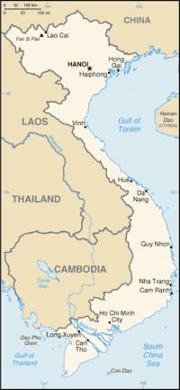Location map Vietnam