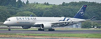 Vietnam Airlines - Vietnam Airlines Airbus A350-900 in SkyTeam livery at Narita International Airport (2018)