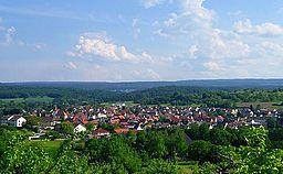 View over Ellmendingen (Keltern)