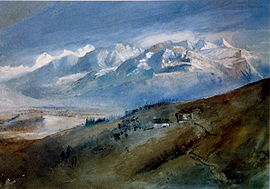 Painting of Mornex by J. Ruskin